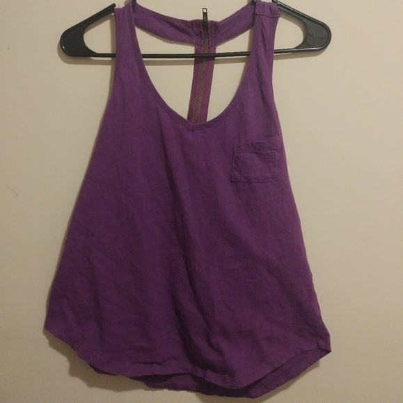 Color Story Tops - 👍3 for 20 -Purple Tank Top with Zipper